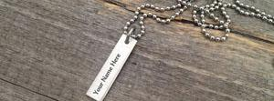 Vintage Word Necklace Name Facebook Cover