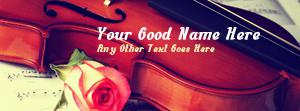 Violin And Rose Name Cover