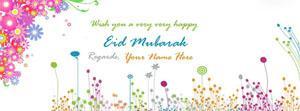 Wish You Eid Mubarak Name Facebook Cover