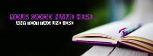 Written in book Name Facebook Cover