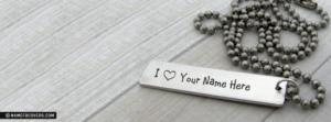Lovely Bar Necklace Name Facebook Cover