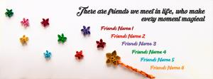 Magical Friends Name Facebook Cover