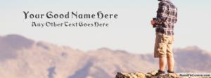 Mountain Climber Guy Name Facebook Cover