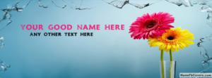Pink And Yellow Flower Name Facebook Cover