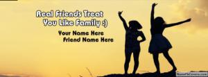 Real Friends Treat Like A Family Name Cover