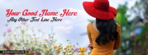 Red Hat Girl Name Facebook Cover