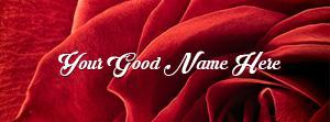 Red Rose Closeup Name Cover