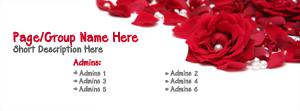 Red Rose Pearls Name Facebook Cover