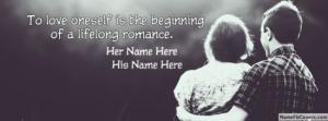 Romantic Couple Quote Name Facebook Cover
