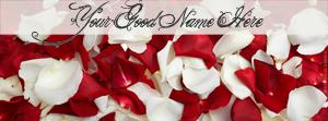 Rose Petals Name Facebook Cover