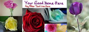 Roses Name Facebook Cover
