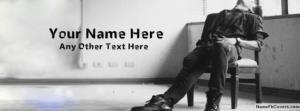 Sad Alone Boy Waiting Name Facebook Cover