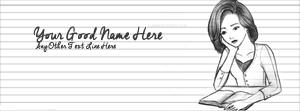 Sad Girl Studying Name Facebook Cover