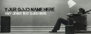 Sound Wave Name Facebook Cover