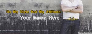 Stylish Body Guy Name Facebook Cover