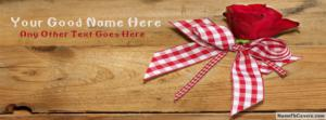 Sweet Red Rose Name Facebook Cover