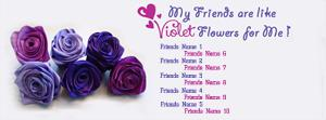 Voilet Flowers Name Facebook Cover