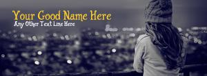 Winter Girl Waiting Name Facebook Cover