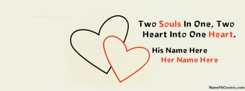 Two Souls Into One FB Cover With Name