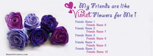 Voilet Flowers Facebook Cover