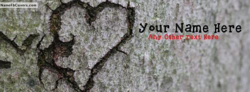 You Broke My Heart FB Cover With Name