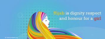 Hijab girl fb cover photo