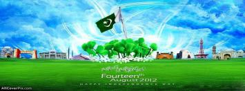 Pakistan Independence Day 14th August Facebook Timeline Covers