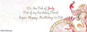 Birthday Months July 2 Dec Wishes Cover Photo