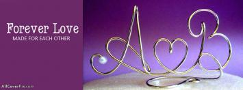 A Love B Alphabets Facebook Cover Photos
