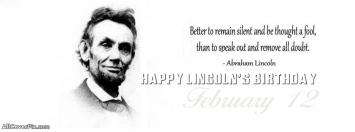 Abraham Lincoln Birthday Covers for Facebook