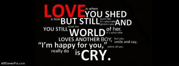 Amzing Quote About Love Facebook Cover Photo