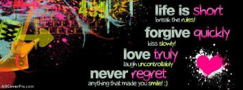 Awesome Attitude Quote Facebook Cover Photo