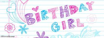 Birthday Girl Facebook Cover Photo