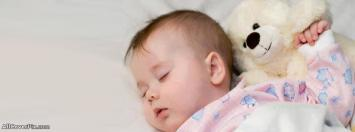 Cute Baby Sleeping Facebook Cover