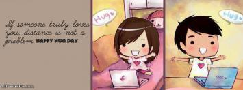 Cute Happy Hug Day 2014 Covers for Facebook