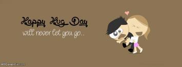 Cute Happy Hug Day Facebook Covers
