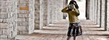 Cute Kid With Camera Facebook Cover Photos
