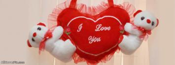 Cute Teddy Happy Valentines Day Facebook Covers