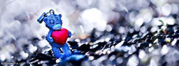 CuteTeddy Bear With Heart Facebook Cover Photos
