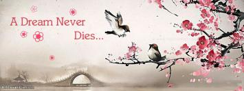 Dream Never Dies Quote Cover for FB