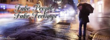 Fake People Fake Feelings Facebook cover