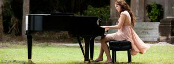 Girl Playing Piano Facebook Timeline Cover Photo