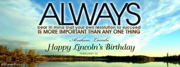 Happy Abraham Lincoln Birthday Covers for Facebook