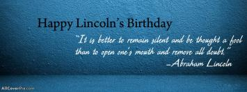 Happy Abraham Lincoln Birthday Facebook Covers