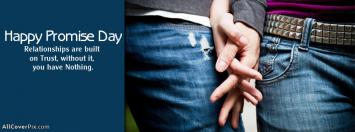 Happy Promise Day Holding Hands Facebook Covers