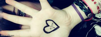 Heart On Hand Facebook Timeline Cover Photos For Girls