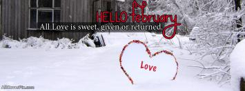 Hello February Covers for Facebook