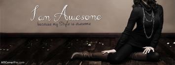 I Am Awesome Girl Facebook Timeline Cover Photos