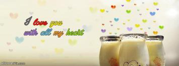 I Love You Hearts Facebook Cover Photo