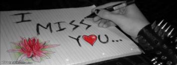 I Miss You New Facebook Cover